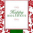Vector Holiday Themed Frame and Pattern — Stock Photo #3676229