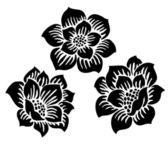 ベクトル フローラルベリーの飾り — ストック写真