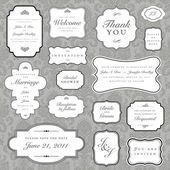 Vector Ornate Frame and Borders Set and Pattern — Photo