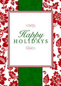 Vector Holiday Themed Frame and Pattern — Stock Photo