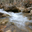 Stock Photo: Quick run of mountain river among stones