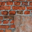 Old brickwork with — Stock Photo #2803117