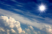 Beautiful sun over clouds — Stock Photo