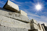 Store concrete blocks for building — Stock Photo