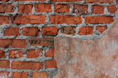 Old brickwork with — Stock Photo