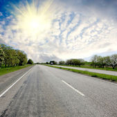 Sunshine oner road — Stock Photo