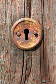 Keywhole of old door — Stock Photo