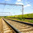 Stock Photo: Railway free for train