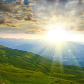Sunset in mountains — Stock Photo