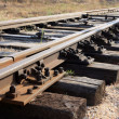 Stock Photo: Rails and sleepers