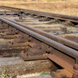 Railway details - rails and sleeper — Stock Photo