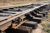 Rails and sleepers — Stock Photo