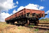 Railwar carriage on rails — Foto de Stock