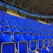 Blue seats on stadium — Stock Photo #3044467