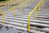 Yellow stair railing — Stock Photo