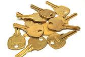 Many yellow bronze keys — Stock Photo