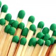 Group of wooden matches - Stock Photo