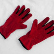 Red gloves — Stock Photo