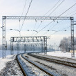 Railway at winter — Stock Photo