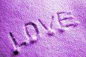 Love on the snow — Stock Photo