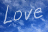 Love on sky — Stockfoto