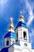 Cathedral with cupolas — Stock Photo