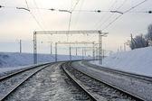 Free railway road — Stock Photo