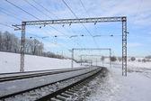 железнодорожная дорога детали — Стоковое фото