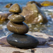 Balanced wet stones — Stock Photo #3379085