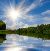 Ładne lato krajobraz — Zdjęcie stockowe