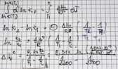 Sheet of paper with formulas — Stock Photo