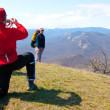 Hiker take a picture — Stock Photo #2891102