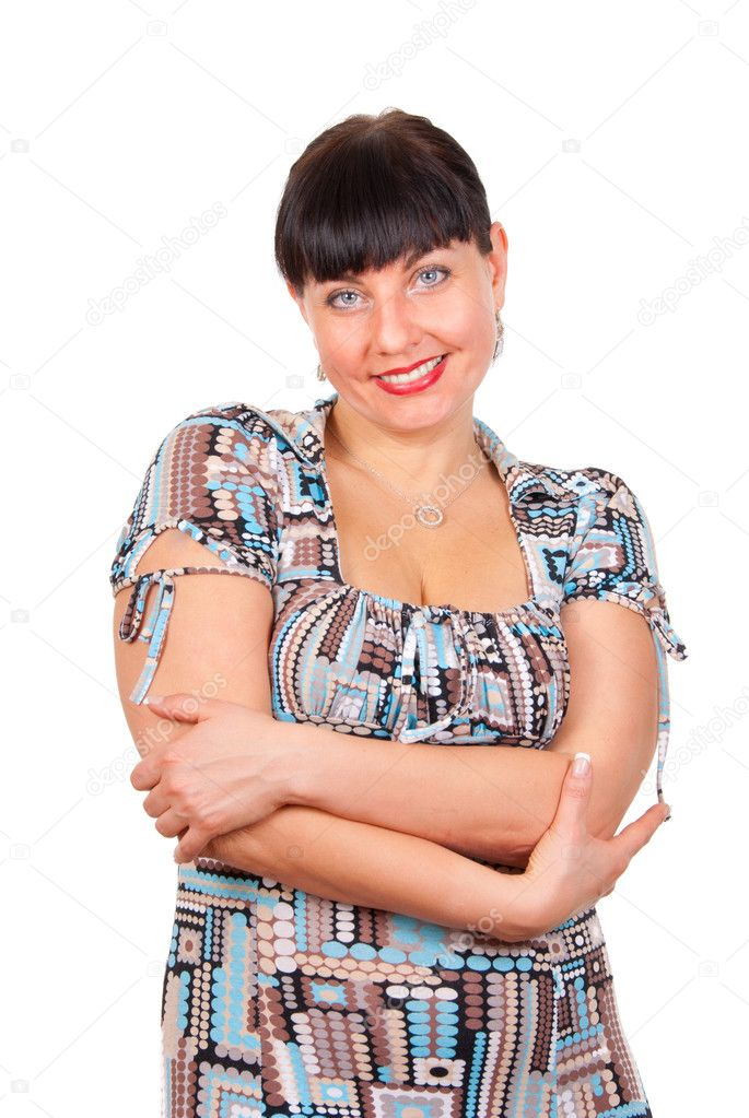 Portrait of a happy mature woman, smiling — Stock Photo #2891081