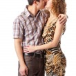 Royalty-Free Stock Photo: Young couple kissing