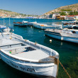 Yachts in a bay — Stock Photo