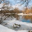 Kışın nehir — Stok fotoğraf
