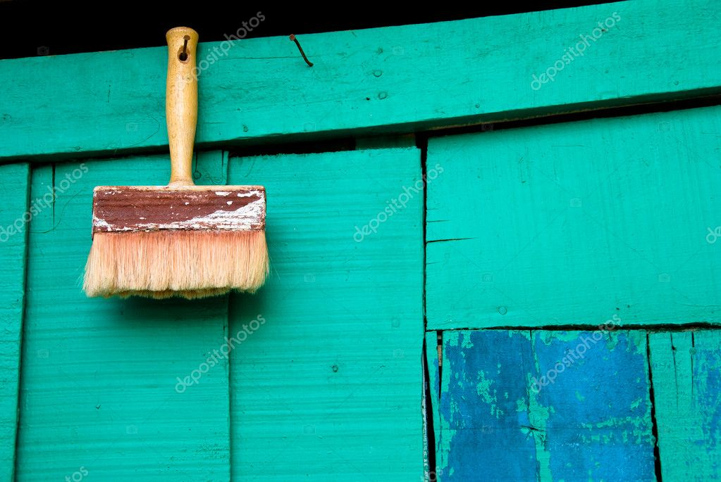 Brush on a wall — Stock Photo #3187564