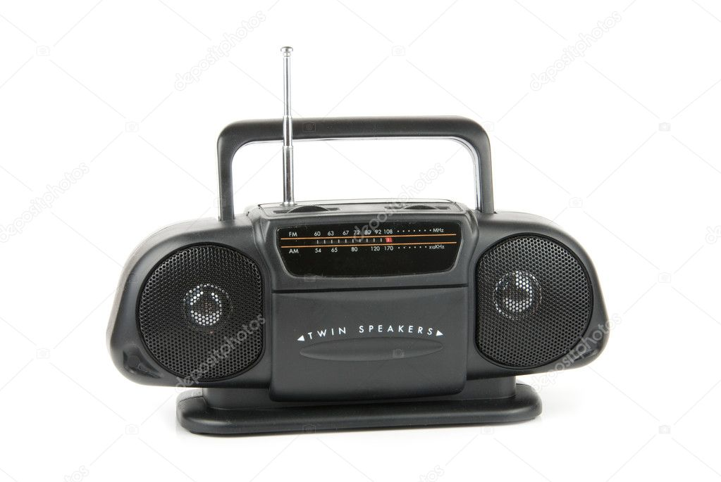 Cassette stereo radio isolated over white background  Stock Photo #3188374