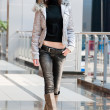 Thin girl in shopping mall — Stock Photo #3190513