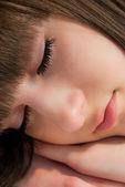 Uyuyan kız yüz — Stok fotoğraf