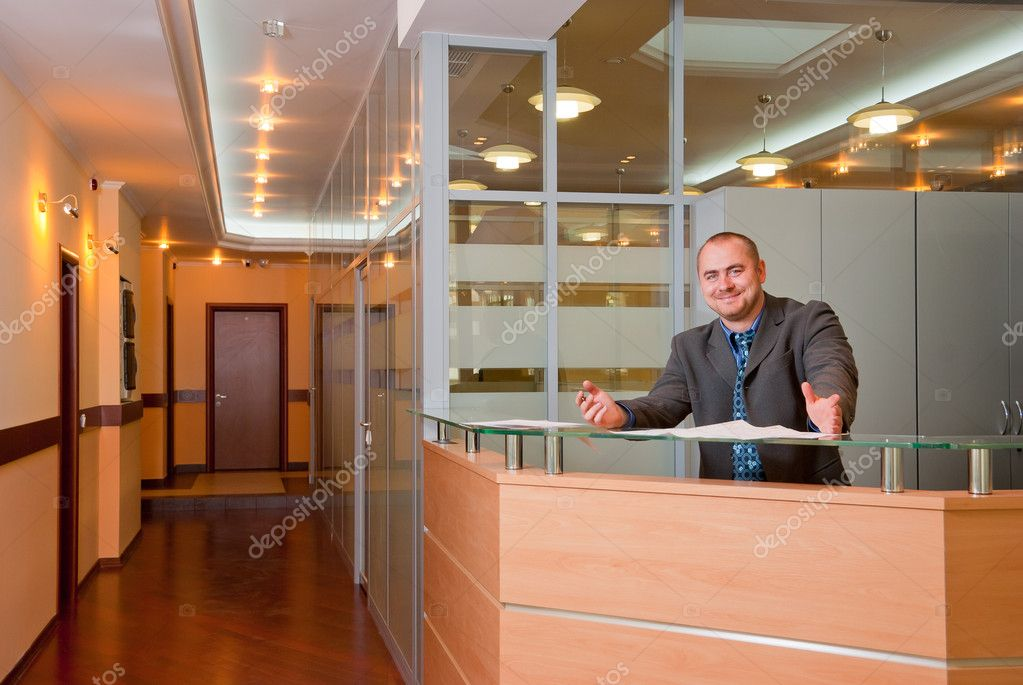 Affable businessman in the modern office interior — Stock Photo #3200829