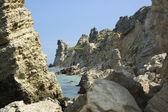 Pile of rocks near the sea — Stock Photo