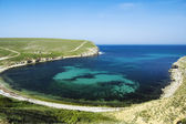 Bay at Bolshoy Kastel gully, Crimea, Ukraine — Stock Photo