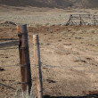 Ranch Fence - Wyoming — Stock Photo