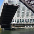 Chicago River Draw Bridge — Stock Photo