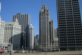 Chicago Skyline - Tribune Building — Stock Photo