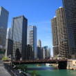 Royalty-Free Stock Photo: Chicago River and Skyline