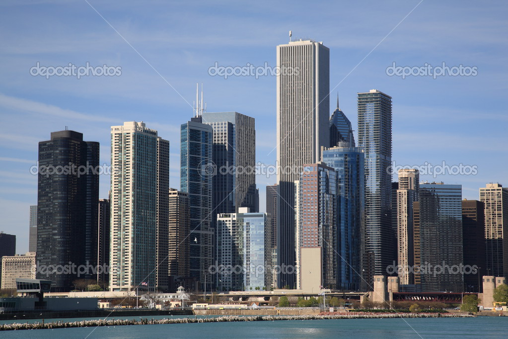 Windy City on the shore of Lake Michigan  Stock Photo #3131043