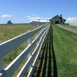 Farm House, Fence and Field — Stock Photo