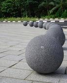 Yuvarlak heykel — Stok fotoğraf
